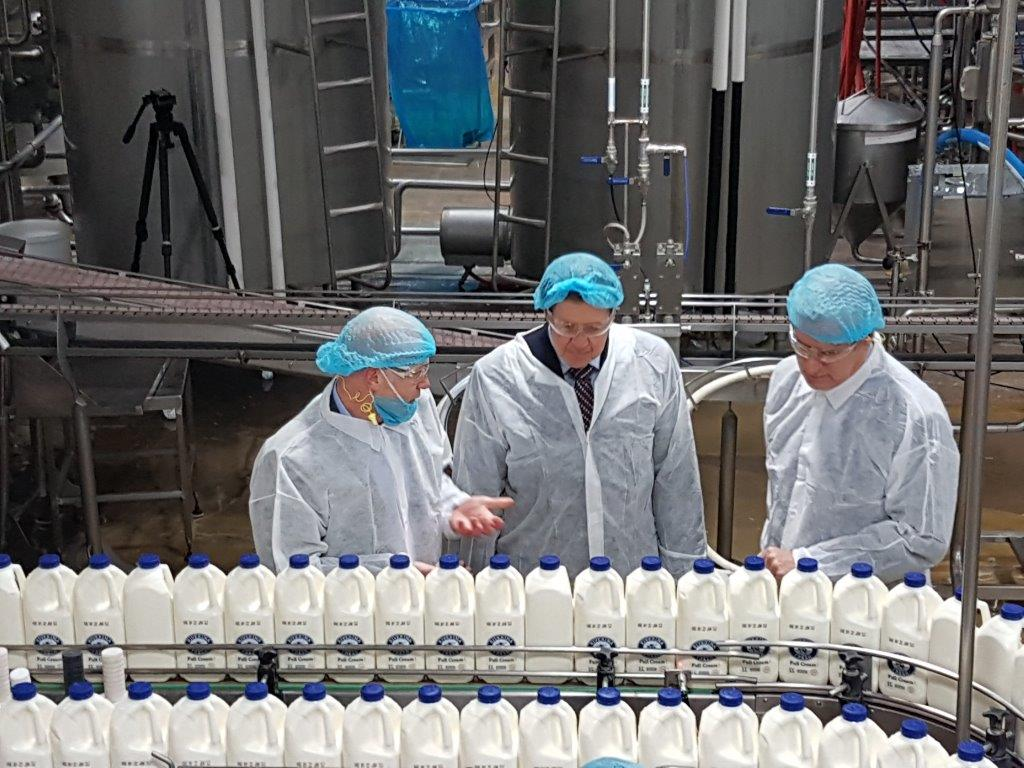 Three workers in a Riverina Fresh factory