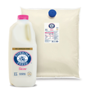 Skim milk in 2 litres and 10 litres