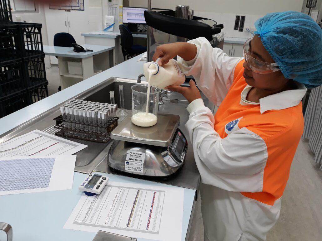 Lab testing of milk